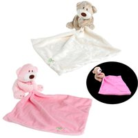 Wholesale Wholesale Baby Blanket Plush - Wholesale- 2017 Kids Baby Comforter Plush Stuffed Washable Blanket Teddy Bear Soft Smooth Toy MAR23_15
