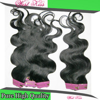 Wholesale Cheapest Good Human Weave - 8 packs lot Bundles Deal Cheapest Hair Brazilian Body Wave Human Hairs Sexy Lady Good Discount Weave Bouncy Curls Weft DHgate Supplier