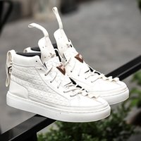 Wholesale Trend Leather Casual Shoes - 2016 high top brand sneakers patrick mohr Men flat Triangle Shoes Men genuine leather Nubuck Trend Red Black Nubuck Casual shoes