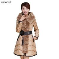 Wholesale Scarves Sash - Women Winter Parkas Coats 2015 New Winter Long Patchwork Thicker Korean Slim Plus Size Fur Collar Down Parkas Jackets Coats with Belt