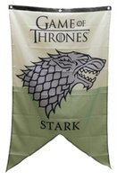 Wholesale Welcome Garden - Game Of Thrones Welcome Stark Flag Banner Fabric Poster Garden Patio Decoration flag Custom USA Hockey Baseball College Basketball Flags