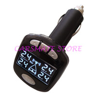 Wholesale Bmw Lcd Monitor - Stock In USA SPY TPMS Wireless Digital Car Tire Pressure Monitor System Car Tire Temperature & Pressure Gauge With 4 Sensors LCD Display