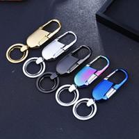 Wholesale Wood Craft Anchor - Metal key chain men simple zinc alloy keychain craft gift waist car key chain pendant