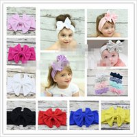 Wholesale Honey Hair Accessories - 10% OFF 2015 fabric Bow Headband, floppy bow headband sweet honey headband Messy Bow hairband Photo Prop Hair Accessories 5pcs lot