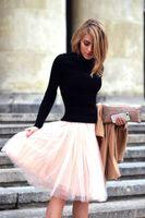 junioren kurze röcke großhandel-2015 große discout frauen kurze röcke alle farben mehrschichtige mini junior erwachsene tutu tüll rock eine linie durchschnittliche größe saias femininas petticoat