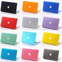 glaçage anti achat en gros de-Macbook Case Givré En Plastique Couverture pour Tous Macbook Taille Mode Coloré 50pcs / up
