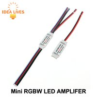 RGBW LED amplificador DC5-24V 4A * amplificador LED de 4 canais para RGBW LED Strip Power Repeater Console Controller.