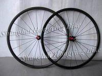 Wholesale 24mm Carbon Tubular - Wholesale-Hand built high quality carbon racing wheelset 24mm tubular UD matte