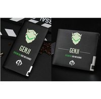 Wholesale Ninja Cards - Genji wallet Cool sword ninja anime purse Game short cash note case Money notecase Leather burse bag Card holders