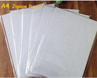 Wholesale Old Art Crafts - Cheapest!!! A4 Sublimation Blank Puzzle 120pcs DIY Craft Heat Press Transfer Crafts Jigsaw Puzzle white in stock