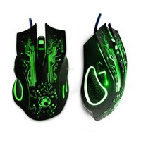 Wholesale Mix X5 - New 2016 ESTONE X9 5000DPI LED Optical 6D USB Wired game Gaming Mouse gamer For PC computer Laptop perfect upgrade combine x5 x7