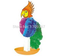 Wholesale Magic Tree Wholesale - iWish 2017 Hot sale New 2015 GC-SW-21-ALB 13.2 x 4.5 cm Multicolor Small Magic growing paper parrot,Magical toys parrot,magic tree 50pcs lot