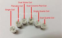 Wholesale quartz bulb for sale - HOT Quartz dual wax Coil wax Ceramic Cotton Coil glass globe atomizer ceramic Core ceramic Wax coil head for glass globe bulb atomizer