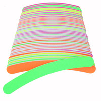 Wholesale Curved File - New 50 X Nail Files Cuticle Sanding Curved Professional Nail Buffer Crescent Neon Color Sandpaper Nail Art Tips Manicure 100  180