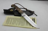 kizarma sabit bıçak av bıçakları toptan satış-Browning Açık Avcılık Bıçak Deri Kılıf Survival EDC Aracı ile Sabit Blade Bıçaklar Düz bıçak El Aracı Ücretsiz Kargo