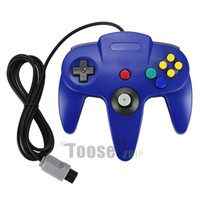 Wholesale Nintendo N64 - New Blue Long Handle Controller Pad Joystick Game System for Nintendo 64 N64 System Gift 5629