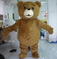 Wholesale Teddy Bears Dresses - 2018 Factory direct sale Teddy Bear Mascot Costume Cartoon Fancy Dress fast shipping Adult Size