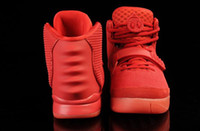 Wholesale Kanye Basketball II Red October Glow In Dark Red October Men s Basketball Sport Footwear Trainers Shoes size eur