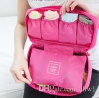 Wholesale Bra Wash Box - 2015 Womens Girls Nylon Multifunction Make up Travel Cosmetic Bra Organizers Underwear Pouch Toiletry Wash Storage Box Sorting Bags Cases