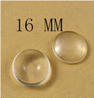 Wholesale Clear Glass Cabochon Domes - 10mm 12mm 14mm 16mm Clear Round Glass Dome Cabochon Beads Fit Cameo Settings