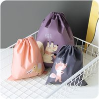 Wholesale Plastic Rolls For Waterproofing - Cartoon Drawstring Bag Durable Waterproof PE Bundle Pocket Lovely Practical Foldable Storage Bags For Outdoor 2 1mh B R
