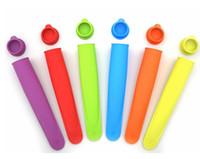 fabrik eis großhandel-Großhandel Silikon Drücken Eis Eis Gelee Lolly Pop Maker Popsicle Formform fabrikpreis 200 stücke freies verschiffen