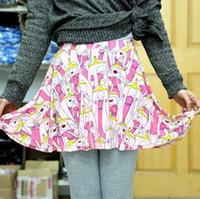 Wholesale Cheap Galaxy Clothes - Woman Skirts Summer 2015 Adventure Time 3D Galaxy Print Sexy Mini Skater Skirt Kawaii Cheap Clothes China FG1510