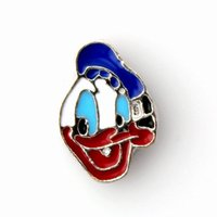 Wholesale Donald Duck Charms - 2015 Lovely Donald Duck Floating Charms Accessory DIY Charms Floating Locket Charms Bulk