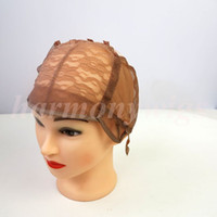 Wholesale U Part Weave Caps - U part Wig caps for making wigs stretch lace with adjustable straps back weave cap hair extensions tools