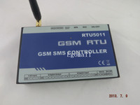 Wholesale Sms Gsm Rs232 - GSM SMS Auto Controller,RTU5011 Spanish Manual, Home Automation, RS232 Config by PC Software Powerful Function RTU Device S034