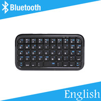 Wholesale Cheapest Tablets Laptop - Wholesale-[Free Shipping] Cheapest Portable Mini Wireless Bluetooth Keyboard for Smart Phones Tablets High Quality