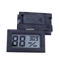 medidor de humedad al por mayor-FY-11 -50-70C 10% ~ 99% HR Cabeza de detección HR Mini LCD Termómetro digital Temperatura Humedad Medidor Acuario Indicador Industria Higrómetro