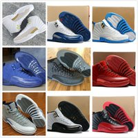 Air retro 12 XII Pallacanestro Scarpe uomo donna OVO bianco GS Barons Bianco / Nero Wolf Grey Gym red flu gioco Universitario blu Sneakers