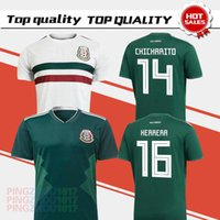 Wholesale Wholesale Mexico - Thai quality 2017 2018 Mexico National Team Jersey 17 18 Mexico Home green Soccer Jerseys 2018 Mexico away white Football Shirts send DHL