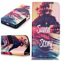 Wholesale Tower Case Stand - For iphone 5 5S 5C 6 6S Plus Tower Flower Wallet Flip Leather Case Cover with stand Holder card slot