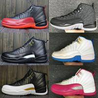 yüksek kavrama ayakkabıları toptan satış-Yüksek Kalite 12 12 s erkek Rahat ayakkabılar OVO Beyaz Salonu Kırmızı Koyu Gri kadınlar Rahat Ayakkabılar Taksi Mavi Süet Grip Oyunu CNY