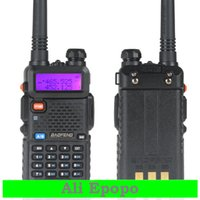 Atacado-BAOFENG uv-5R uv5r New Digital Intercom Interphone Dual Band 136-174 / 400-480MHz 5W 128CH Walkie Talkie Two-way Radio Transceiver