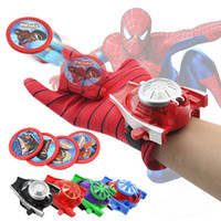 ingrosso batman cosplay-5 stili in PVC 24 cm Batman Glove Action Figure Spiderman Launcher Toy Kids adatto Spider Man Giocattoli Cosplay