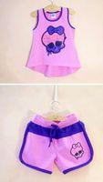 Wholesale new design girl pants - New Arrivel 2015 Kids Monster High cloth set,Kids Casual t Shirt+Pant,Kids Summer t shirt set Classic Design 6-16Year