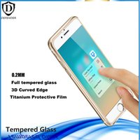 "Wholesale Iphone Titanium Cover - 3D Curved color metal Edge Titanium for iPhone 6 6splus Front Screen Protector 0.26MM Tempered Glass Full Cover 4.7""  5.5"" retail box"