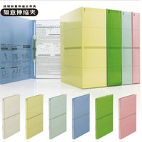 Wholesale Clip Book Ends - Wholesale-PLUS multicolor paper clip wishful telescopic adjustable clip back width folder