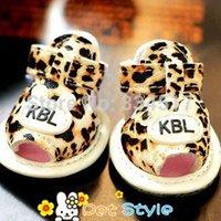 Wholesale Small Dog Sandals - Wholesale-Free shipping 4pcs set Dog shoes pet leopard sandals summer sandals slip shoes