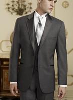 Wholesale Custom Made Romantic Groom Tuxedos Wedding Party Groomsman Suit Wedding Party Groomsman Boys Suit Jacket Pants Tie Vest Bridegroom Suit