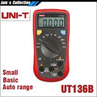 Wholesale Ut Shipping - Free shipping UNI-T UT136B DC AC ampere current duty cycle auto range DMM UNI T UT 136B digital multimeters lcr meters