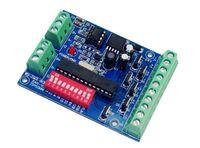 controlador dmx led venda por atacado-Fácil 6 CH dmx512 Controlador, 6 CH DMX 512 decodificador, LED 6 canais 2 grupo controlador de saída RGB, DC5-24V DMX512 unidade