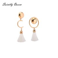 Barato Encantos Rápidos Baratos-2017 Hot Sale Jóias Moda Drop Earrings Cheap Spike Alloy Ancientry Acessórios de casamento Mulheres Girl Party Gift White Charming