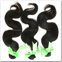 Wholesale Grade 5a Unprocessed Hair - 5A Grade Unprocessed Brazilian Hair Bundles Brazilian Virgin Hair Extensions Human Hair Weave Natural Color Body Wave