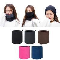 Wholesale winter wear men scarf - Wholesale- Outdoor 3in1 Winter Unisex Women Men Warm Thermal Scarf Snood Neck Warmer Face Mask Beanie Hats Wear Collars