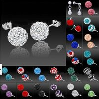 Wholesale Cheap Tanzanite - New Luxury Crystal Rhinestone Stud Earrings Unisex Shambhala Diamond Earrings Jewelry Lots Cheap Wholesale Free Shipping