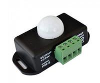 sensor de movimiento de iluminación led al por mayor-Interruptor del cuerpo humano Sensores de Gaza sensor de movimiento PIR 12V 24V para SMD 3528 5050 5630 LED Bobina de luz infrarroja 6A luces de tiras de cinta CE ROSH MOQ50